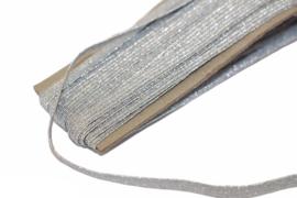 Elastiek zilver 6mm, per meter