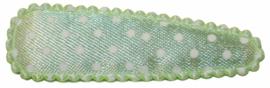 kniphoesje mint met witte stippen satijn 5 cm