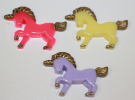 Unicorn flatback 21x30 mm 3 kleuren