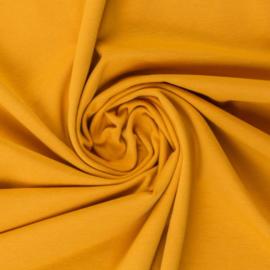 Tricot: effen mosterdgeel (Swafing kleur 313) per 25cm