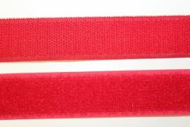 Klittenband 25 mm rood per 0,5 meter