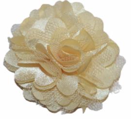 Tule bloem 5 cm vanille