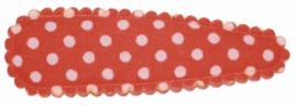 kniphoesje katoen oranje met witte stip 5 cm