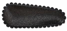 kniphoesje satijn effen zwart 3 cm