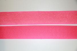 Klittenband 20 mm knalroze per 0,5 meter