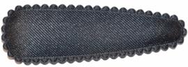 kniphoesje satijn effen donkergrijs 5 cm