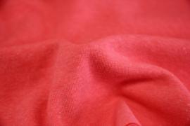 Neon koraal-roze boordstof. Rondgebreid 37 cm. Per 25 cm