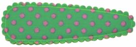 kniphoesje katoen mintgroen met roze stip 5 cm