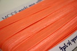 Elastisch biaisband/vouwtres neonoranje 20 mm per 0,5 meter