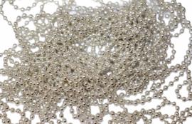 Zilver Bolletjes ketting 50cm,60cm,70cm,80cm,90cm of 100cm 2,4mm