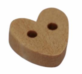 Knoop houten hartje 10mm