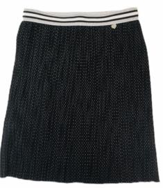 Plisse rokje zwart met wit stipje maat 110-152