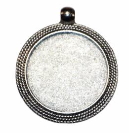 Setting oud zilver 25 mm