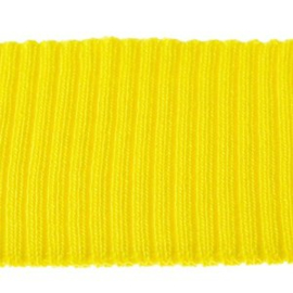 Boord effen geel 55x5 cm (dubbelgevouwen)