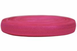 Elastisch band neon donker roze 16 mm per 0,5 meter
