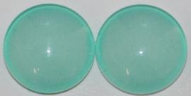 Glas flatback cabochon 12mm zachtblauw per 2 stuks