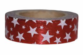 Masking tape stars red white shiny!