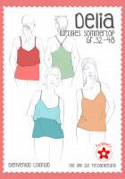 Farbenmix papier naaipatroon zomertop Delia maat 32-48