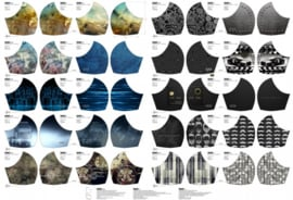Poplin katoen paneel: Mondkapjes 100x150 cm Stenzo