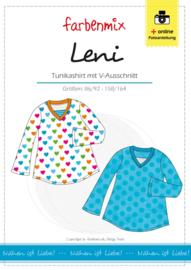 Farbenmix papier patroon shirt met V-hals Leni  86/92 -158/164