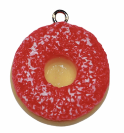 Donut hanger 24 mm aardbei gesuikerd