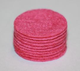 Rond viltje roze 25mm, per stuk