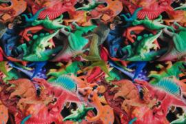 Tricot digitale print : Speelgoed dino's  (Stenzo) per 25 cm