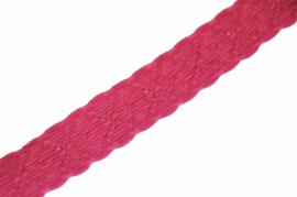 Elastisch knalroze kant 20 mm per 0,5 meter