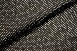 Katoen: zwart met wit streepje (stenzo) per 25cm