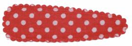 kniphoesje katoen rood met witte stip 5 cm