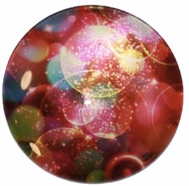 Glas cabochon 25mm: Colour bubbles