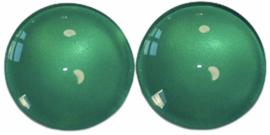Glas flatback cabochon 12mm turkoois per 2 stuks