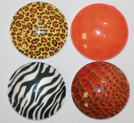 Glas cabochon set 25mm: Animal print