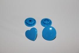 Kam snap HART blauw glanzend per 5 stuks