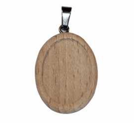 Cabochon setting 18x25 mm hout/metaal