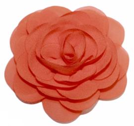 Stoffen bloem 8 cm oranje