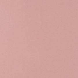 French terry tricot: effen licht oudroze (Swafing kleur 435 herfst/winter 21/22 ) per 25 cm