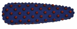 kniphoesje katoen kobalt met rode stip 5 cm