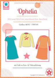 Farbenmix naaipatroon Ophelia shirt en jurk maten 86/92 - 158/164