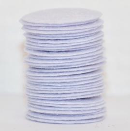 Rond viltje wit 25mm, per stuk