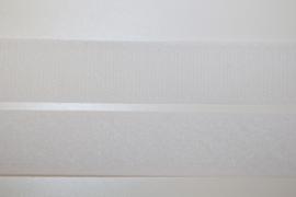 Klittenband 25 mm wit per 0,5 meter