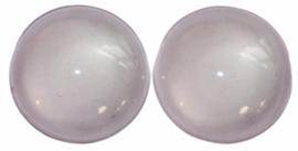 Glas flatback heel zacht roze 12mm per 2 stuks