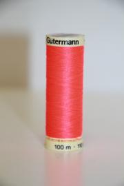 Gutermann naaigaren 100m, kleur: neonoranjeroze