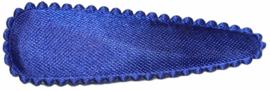 kniphoesje satijn effen kobaltblauw 5 cm