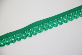Elastisch kantje groen 20mm per 0,5 meter