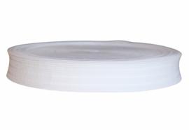 Soepel pyjama/boxershort elastiek wit 30 mm breed, per meter
