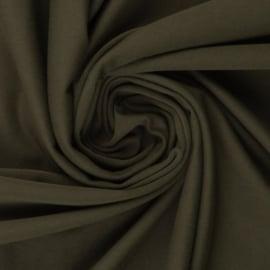 Tricot: effen legergroen per 25cm