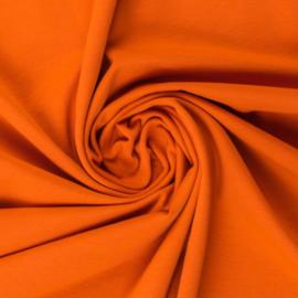 Tricot: effen oranje,  per 25cm