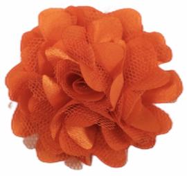 Tule bloem 5 cm donkeroranje