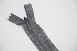 Blinde rits 22,5 cm grijs